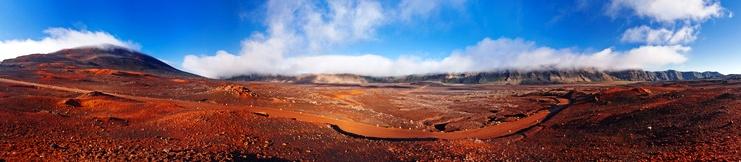 Le volcan et ses paysages lunaires