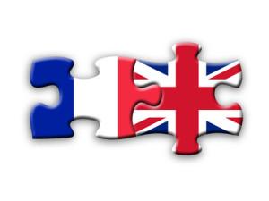 French & UK Flags (jigsaw solution language translation)