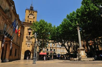 aix en provence,place de l'hotel de ville