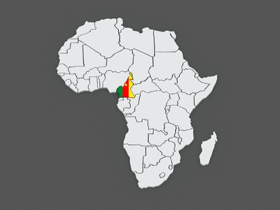 Map of worlds. Cameroon.
