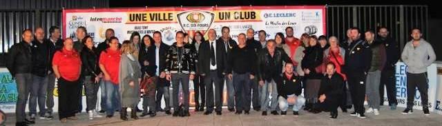 Les partenaires du RC Six-Fournais, réunis autour du Président Pierre-Yves Prolhac