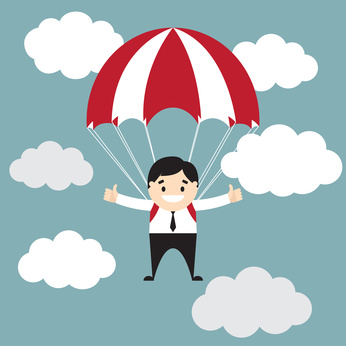 Enfant et parachute