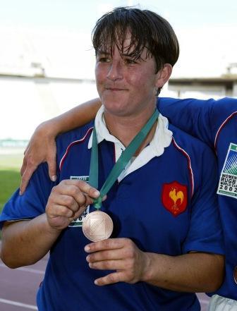 Nathalie médaille coupe du monde 2002 barcelone
