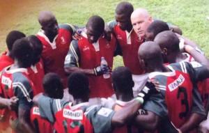 Christophe avec la sélection 7 du Kenya