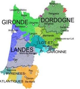 carte aquitaine - Wikipedia - Oie Blanche CC BY SA 3.0