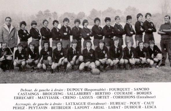 Pierre Peytavin Cadets Boucau 1976