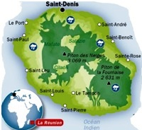 carte ile de la Réunion