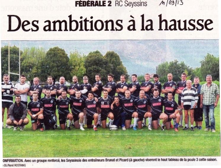 Jérome article DL Equipe Seyssins 2013