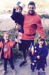 Tonton benoit Piffero et mes 3 petits lors de la coupe du monde 2015