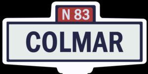 COLMAR - Ancien panneau entrée d'agglomération
