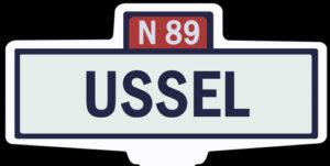USSEL - Ancien panneau entrée d'agglomération