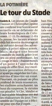 Maxime - Cadets victoire contre Colomiers