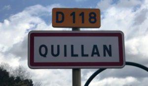 panneau entrée quillan