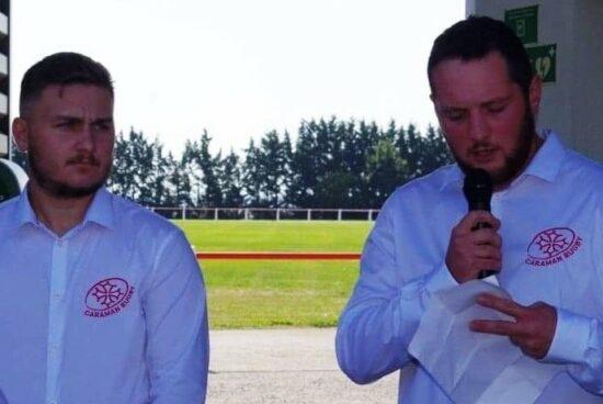 Clément Cassan et Florian Thuries / Coprésidents de la Jeunesse Sportive Caramanaise